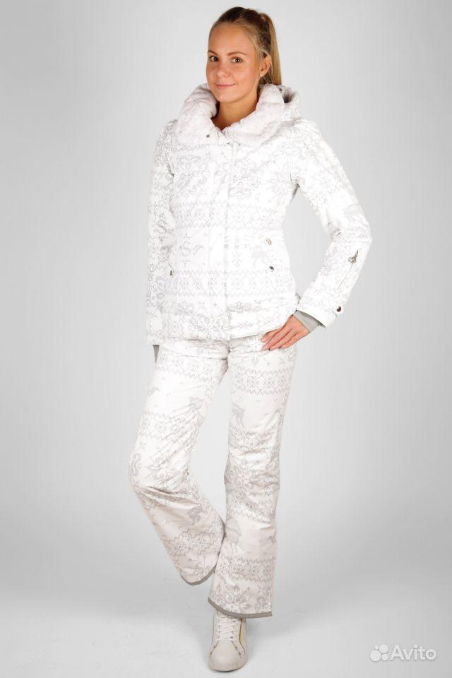 Белый Женский Лыжный Костюм
