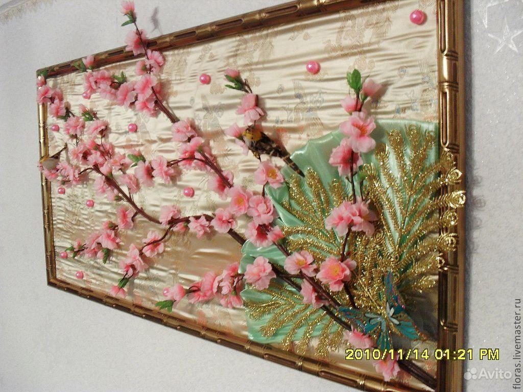 Картина из искусственных цветов своими руками в рамке 72