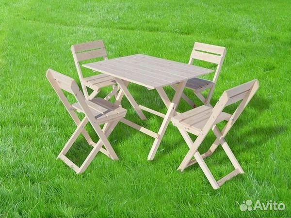 Раскладной стол-стул своими руками