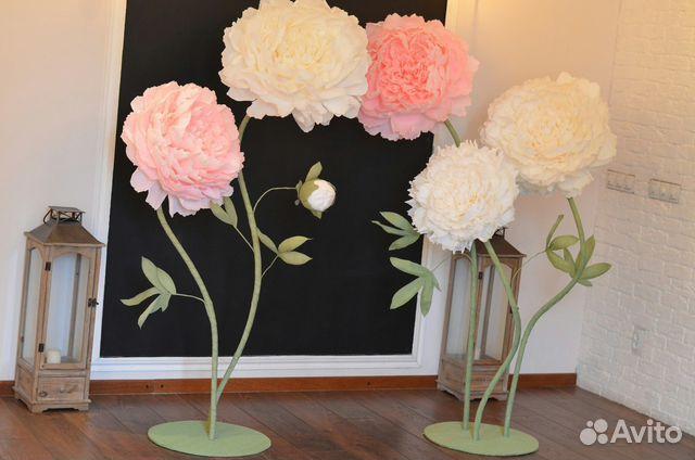 Большие цветы для оформления зала своими руками шаблоны