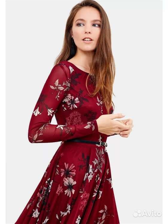 8783f751bf1 Платье Zarina бордовое