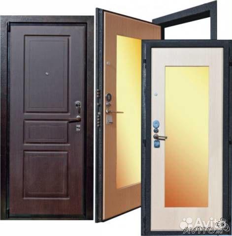 смотреть зеркальные входные двери