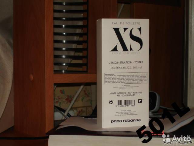 Paco Rabanne XS pour Homme 100 мл EDT (м ) тестер