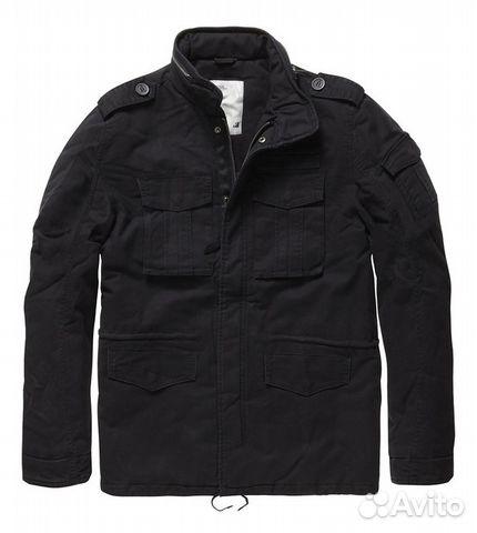 93c6b258104 Куртка vintage industries M65 padded jacket black— фотография №1. Размер   без размера. Адрес  Санкт-Петербург
