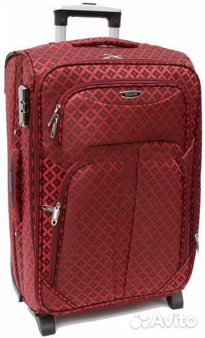 Новый чемодан на колесах, плотная ткань купить в Москве на Avito ... 15edfe7d042