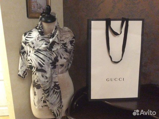 Шарф палантин Gucci, оригинал. Новый купить в Москве на Avito ... 8cf041006e9