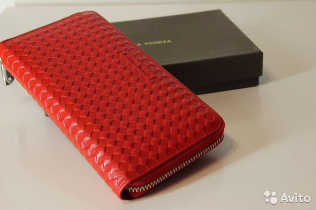 fe44f2de5c1d Красный женский кошелек Bottega Veneta | Festima.Ru - Мониторинг ...