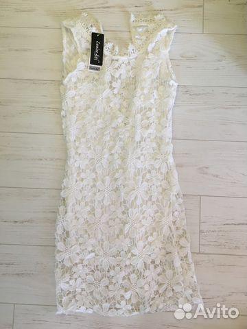 Новое белое кружевное платье  d99691b4be0b3