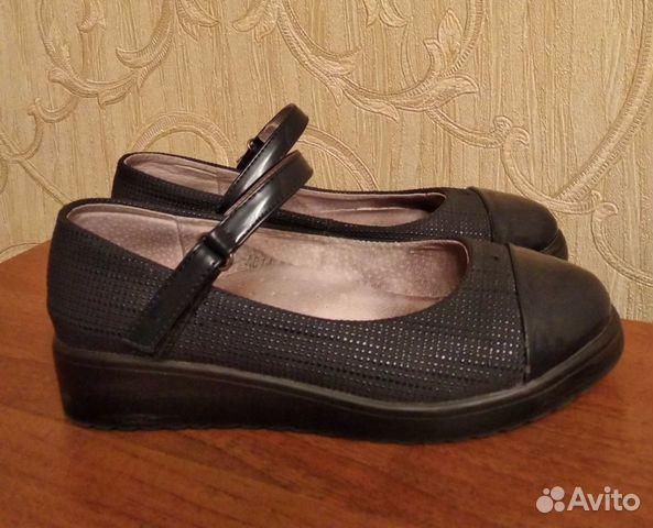 Туфли школьные, р.37 (по стельке 23,5 см) 89021357716 купить 1
