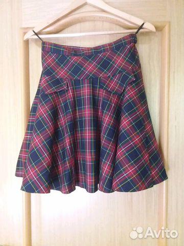 284b359eecc Школьная юбка в клетку - Личные вещи