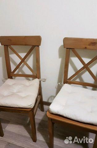 стулья с подушками деревянные для кухни икеа 2 шт Festimaru