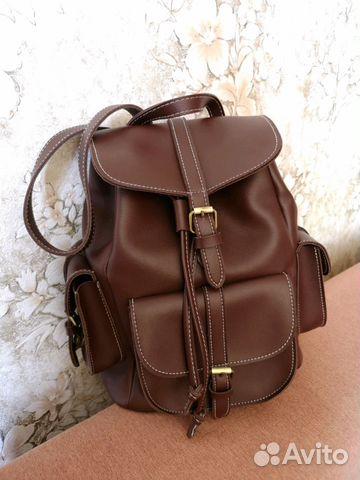 64da37db4b35 Рюкзак кожаный новый купить в Москве на Avito — Объявления на сайте ...