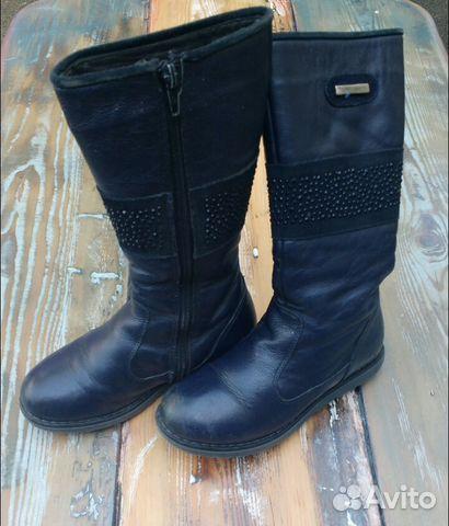 Сапоги кожаные 89649002630 купить 2
