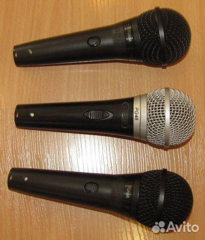 Проф вокальные микрофоны Shure PG48 - 58 3шт новые 89128899109 купить 4