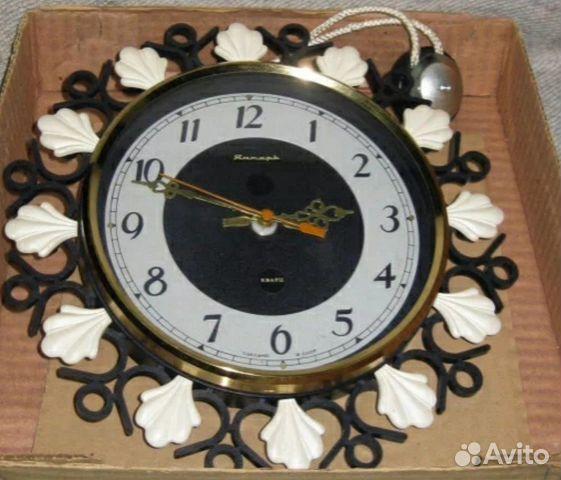 Настенные часы СССР Янтарь кварц в коробке купить 1