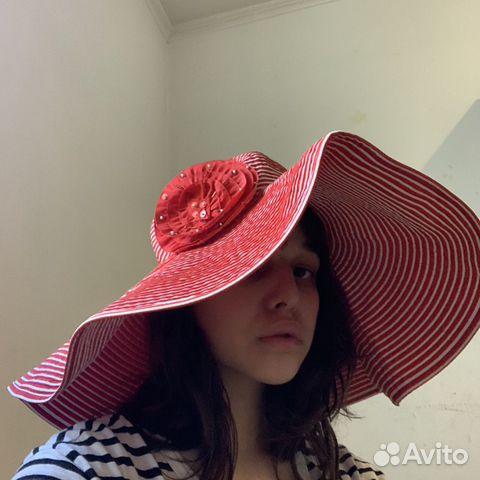 Панама красная новая шляпа