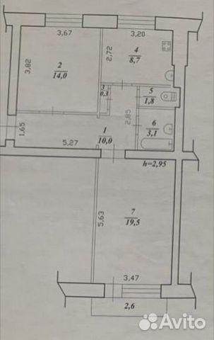 2-к квартира, 57.4 м², 3/4 эт.  89243194925 купить 7
