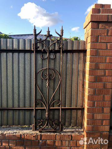 Чугунные решетки для забора и ворота