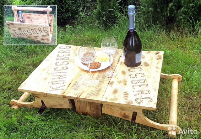 Столик трансформер для пикника ручной работы  89062199800 купить 1