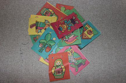 Елочные игрушки СССР-картон и флажки, хлопушки
