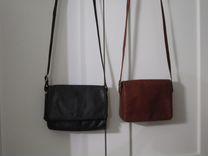 Две сумки кроссбоди кожа