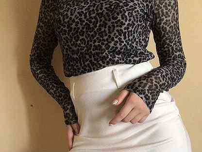 Блузка с леопардовым принтом