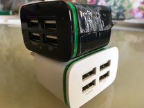 Светодиодный адаптер на 4 порта USB