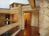 Сруб дома 10.5х10.6м с рубленной террасой