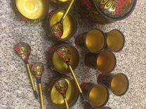 Хохлома набор сувенирной посуды