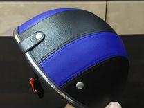 Вело-шлем шлем-кепка кожа Черный