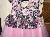 Розовое платье, 98р