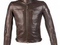 Мото Куртка кожанная BY city street cool brown