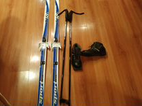 Продам Лыжи (150 см) + палки+ ботинки(33 р-р)